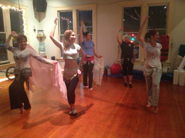 Picture of belly dance class